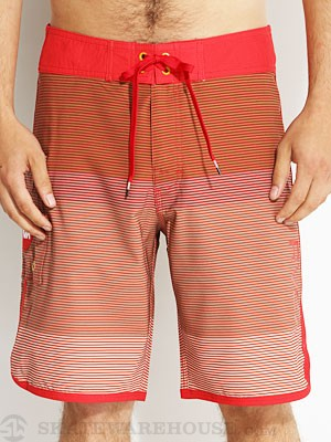 RVCA Commander Boardshorts Red 28