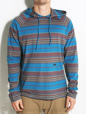 RVCA Canyon Hooded Shirt Blue/SAX SM