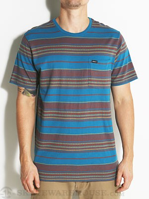 RVCA Canyon Stripe Crew Shirt Blue/SAX SM