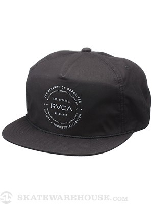 RVCA Docks Snapback Hat Black Adj.