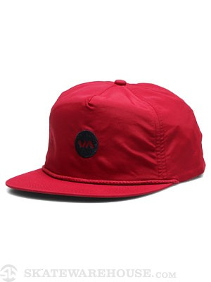 RVCA Dot Trucker Hat Red Adj.