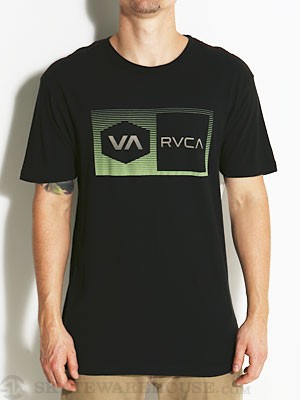 RVCA Fade Box Vintage Wash Tee Black SM