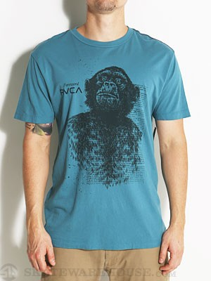RVCA Foreward Vintage Wash Tee Blue/COL MD