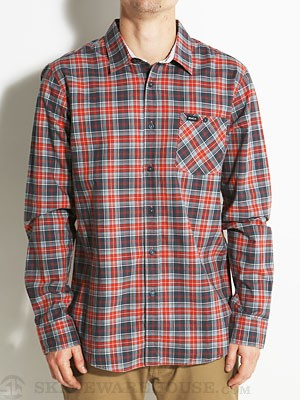 RVCA Gazi L/S Woven Shirt Midnight MD