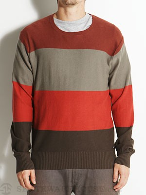 RVCA Gauged Crew Sweater Cinnamon/CCH MD