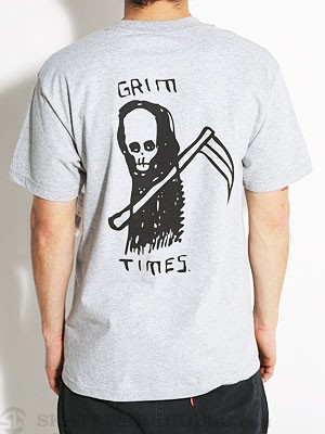 RVCA Grim Times Pocket Tee Athletic Heather SM