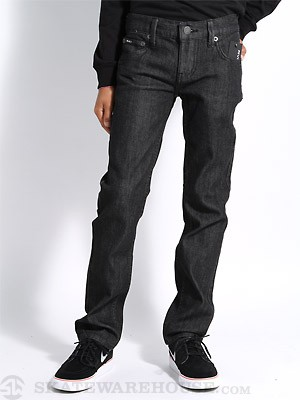 RVCA Kids Regulars Jeans Black Raw 22