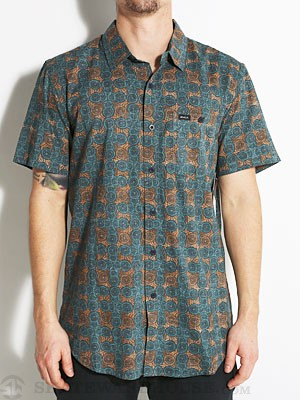 RVCA Hey S/S Woven Shirt Midnight LG