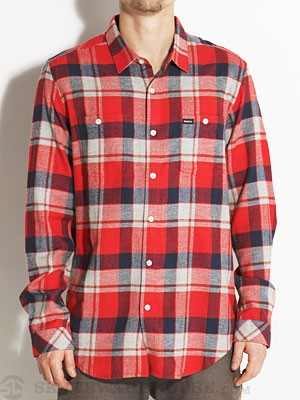 RVCA Hook Flannel Shirt Red XL