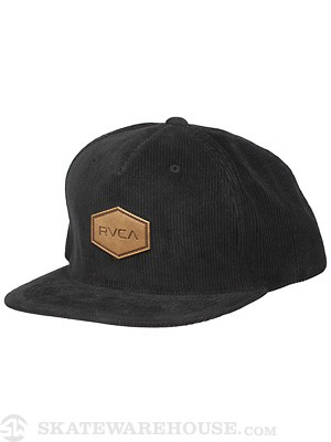 RVCA Hex Lux Hat Black Adjust