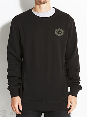 RVCA Hex Crew Sweatshirt Black SM