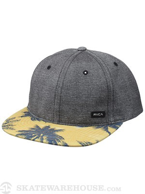 RVCA Low Crown Snapback Hat Black Adjust
