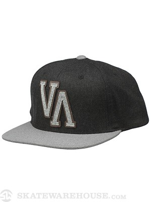 RVCA Leaguer Snapback Hat Black Adjust