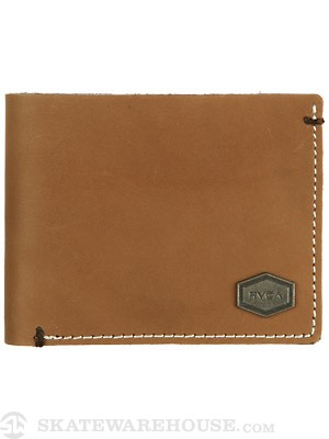 RVCA Loggerhead Leather Wallet Tan