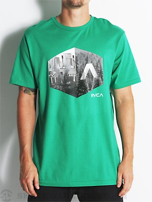 RVCA Photo Hex Tee Kelly Green/KGR MD