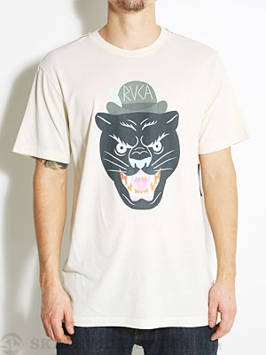 RVCA Panther Head Vintage Dye Tee Almond Tea 2X