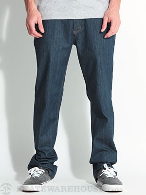 RVCA Regular Extra Stretch Denim Classic Blue 28