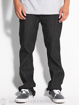 RVCA Regulars Denim Raw Black 28