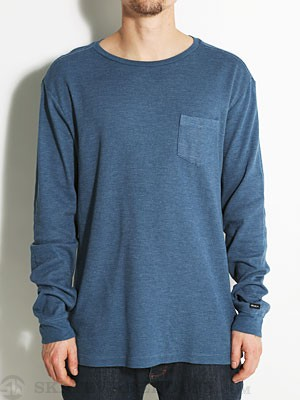 RVCA Roscoe Custom Thermal Shirt Blue/BEO SM