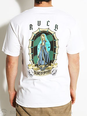RVCA In Us We Trust Pocket Tee White XL