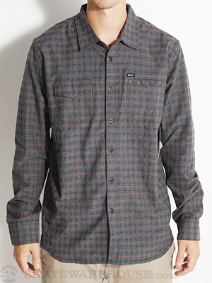RVCA Salt Flats Woven Shirt Charcoal/DCC MD