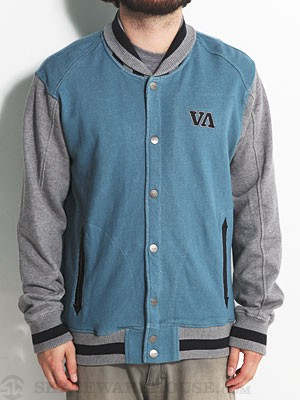 RVCA Senior Fleece Jacket Blue/AGB LG
