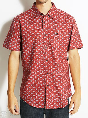 RVCA Shine On S/S Woven Shirt Barn Red/BNF SM