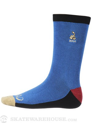 RVCA Shin Kicking Socks Snorkel Blue