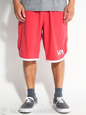 RVCA VA Sport Short II Red/White 2XL