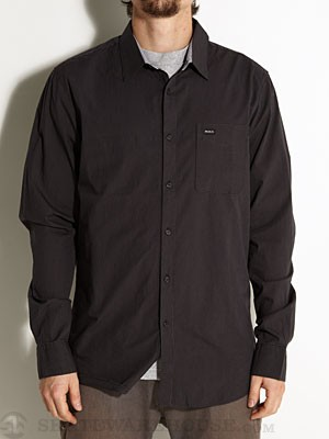 RVCA Straights L/S Woven Shirt Black MD