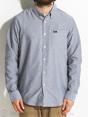 RVCA That'll Do L/S Woven Shirt Distant Blue MD