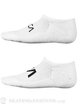 RVCA Transfer II Invisible Socks White/Black