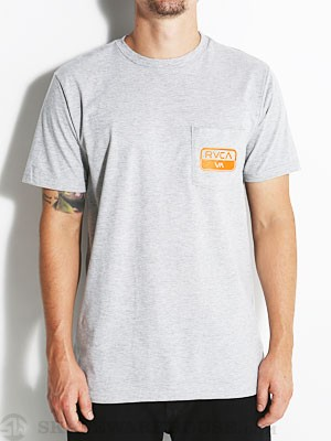 RVCA Truck Patch Tee Athletic Heather SM