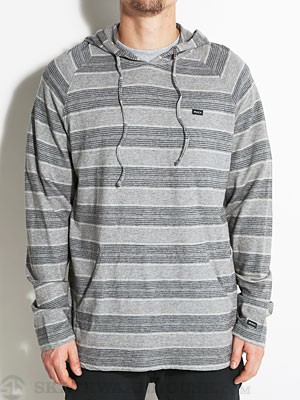 RVCA Tompkin Hooded Knit Shirt Gray Noise/GRS MD