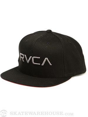 RVCA Twill Snapback Hat Black/Pavement/BPV
