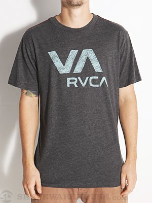 RVCA VA Ball Point Vintage Dye Tee Black LG