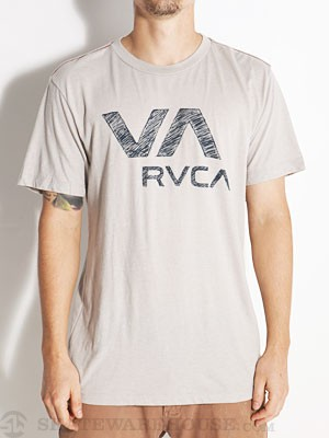 RVCA VA Ball Point Vintage Dye Tee Grey/CGR XXL