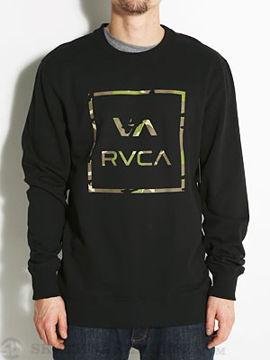 RVCA Vamo Crew Sweatshirt Black MD