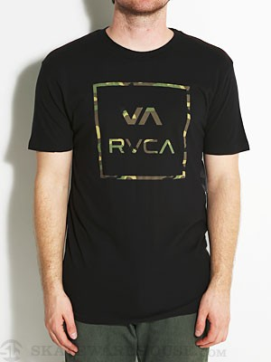 RVCA Vamo Vintage Wash Tee Black MD