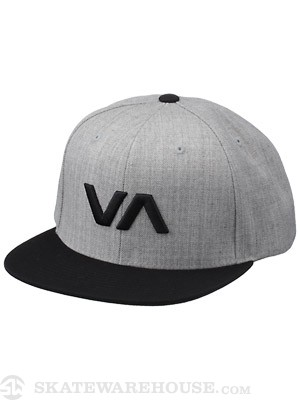 RVCA VA Snapback Hat Athletic Heather Adjust