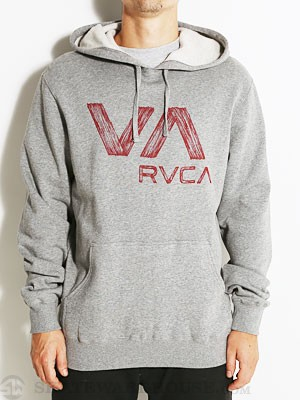 RVCA Wooden Pullover Hoodie Athletic Heather SM