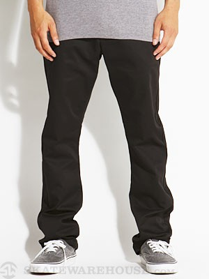 RVCA The Week-End Chino Pants Black 28
