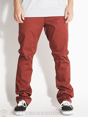 RVCA The Week-End Chino Pants Red Earth/RDE 28