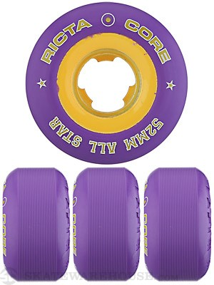 Ricta Chrome Core Purple/Gold Wheels