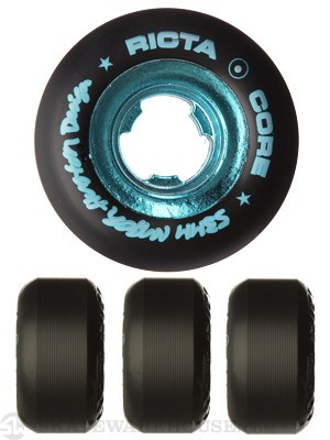 Ricta Huston All Star Black/Teal Chrome Core Wheels