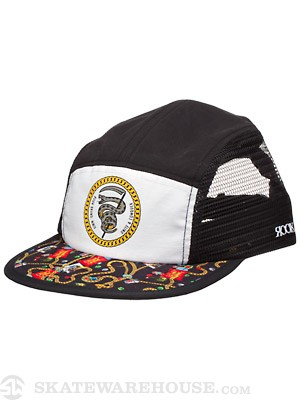 Rook Black Jack 5 Panel Hat Black/White