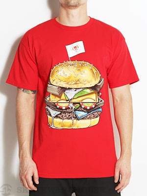 Rook King Burger Tee Red MD