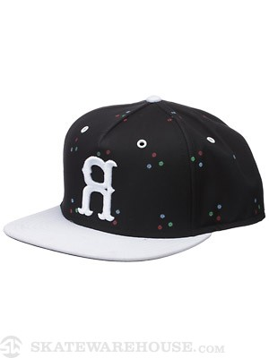 Rook RGB Snapback Hat Black/White Adjust
