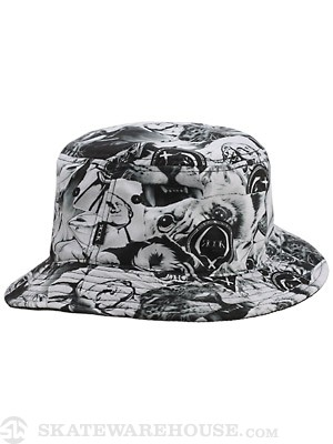 Rook Scraps Bucket Hat White One Size