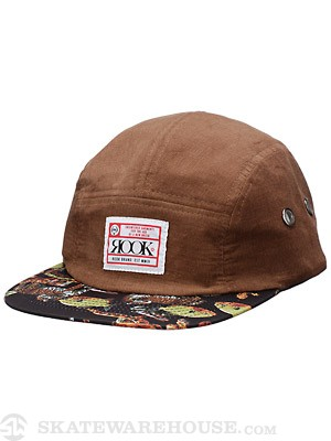 Rook Tracker Cord 5 Panel Hat Tan/Black